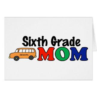 Sexta mamá del grado tarjeta