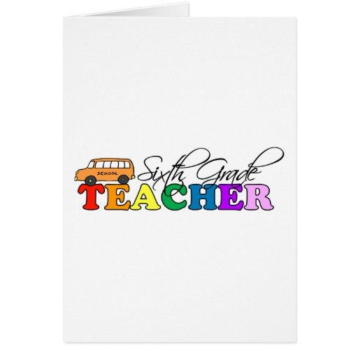 Sexto profesor del grado felicitación