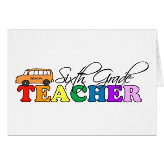 Sexto profesor del grado tarjeta