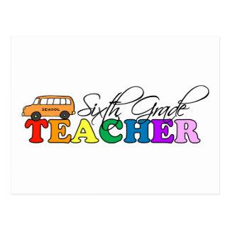 Sexto profesor del grado tarjeta postal