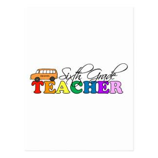 Sexto profesor del grado tarjetas postales