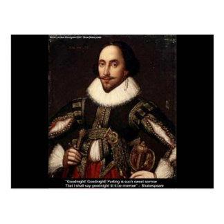 """Shakespeare """"buenas noches, dividiendo"""" los regalo postal"""