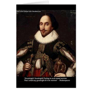"""Shakespeare """"buenas noches, dividiendo"""" los regalo tarjeta de felicitación"""