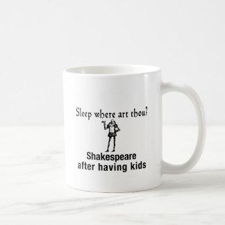 Shakespeare después que tiene niños, taza