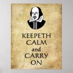 Shakespeare Keepeth tranquilo y continúa el poster