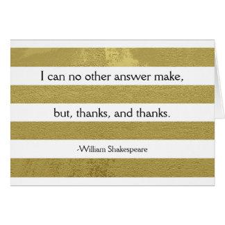 Shakespeare le agradece cardar tarjeta