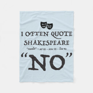 Shakespeare ninguna manta