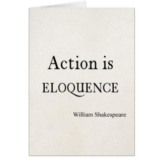 Shakespeare personalizó la acción de la cita es tarjeta