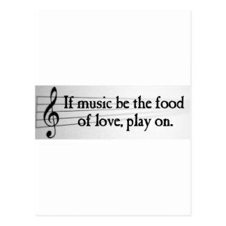 Shakespeare: Si la música sea la comida del amor Postal