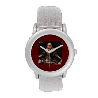 """Shakespeare y reloj de la cita del """"pasado/del pró"""