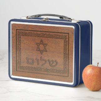 Shalom de madera tallado
