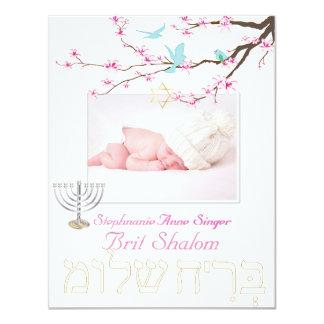 Shalom del británico de PixDezines/flores de Invitación 10,8 X 13,9 Cm