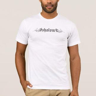 Shalom en negro camiseta
