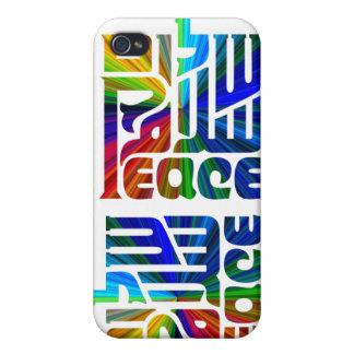 Shalom/paz en el Lengua-multi-color 3 iPhone 4/4S Fundas