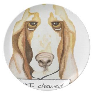 Shaming el perro Basset Hound Platos De Comidas