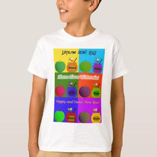 Shana Tova - estilo lindo del arte pop de Apple, Camiseta