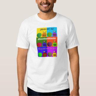Shana Tova - estilo lindo del arte pop de Apple, Camisetas