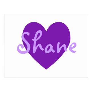 Shane en púrpura postal