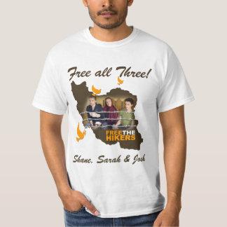 Shane, Sarah y Josh: ¡Libere los tres! Camisetas