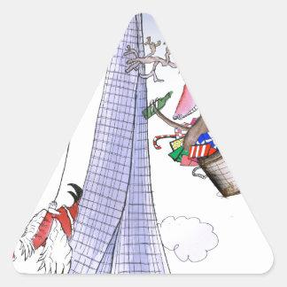 ShardArt Tirón-Ho por Tony Fernandes Pegatina Triangular