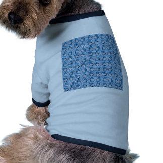 Sharkbite en azul pacífico camiseta con mangas para perro