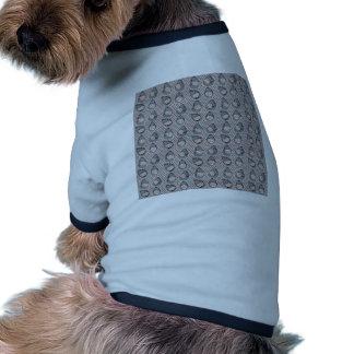 Sharkbite en gris atlántico camiseta con mangas para perro