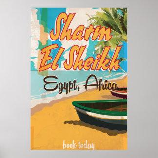 Sharm el Sheikh - poster del viaje del vintage de Póster
