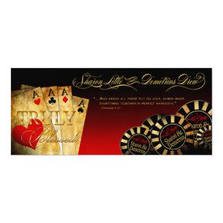 Sharon y rojo de lujo DE LINO de Demetrius Las Invitación 10,1 X 23,5 Cm