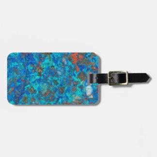 Shattuckite patterened azul etiquetas para maletas
