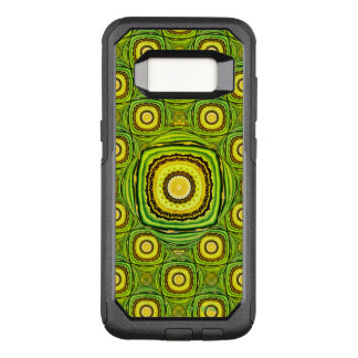 Shell verde y amarillo abstracto como diseño funda commuter de OtterBox para samsung galaxy s8