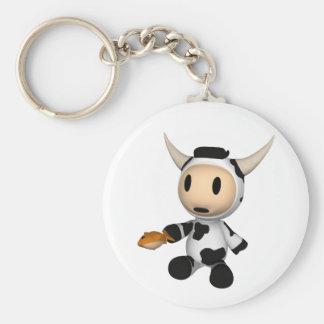 Sherman el llavero que se sienta de la vaca de