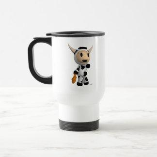 Sherman la taza blanca del viajero de la vaca de