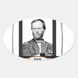 Sherman protagoniza las espadas pegatina ovalada
