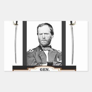 Sherman protagoniza las espadas pegatina rectangular