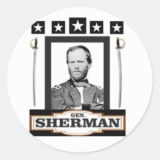 Sherman protagoniza las espadas pegatina redonda