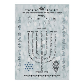 Shevitti con el poster del salmo 67, todos los