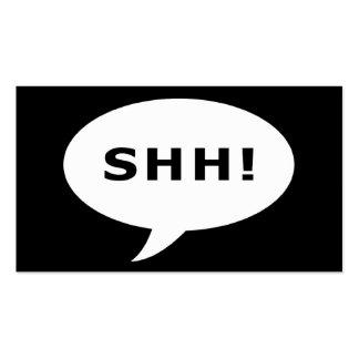 ¡shh! burbuja cómica del fiesta de sorpresa tarjeta de visita