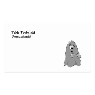 Shh fantasma Halloween secreto lindo del dibujo Tarjetas De Visita