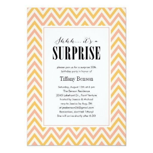Shhh… es invitaciones de un fiesta de sorpresa invitación 12,7 x 17