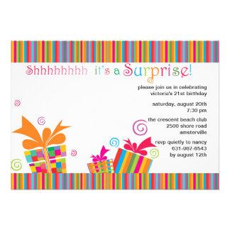 Shhh… invitación del fiesta de sorpresa