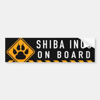 Shiba Inus a bordo Pegatina Para Coche
