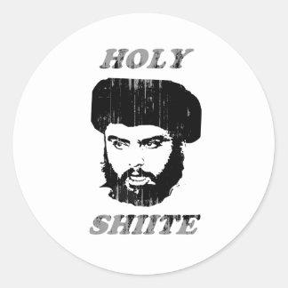 Shiita santa Faded png Pegatina Redonda
