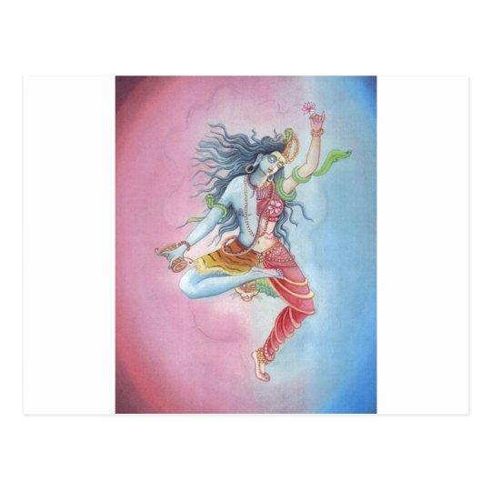 Shiva - dancingpose postal