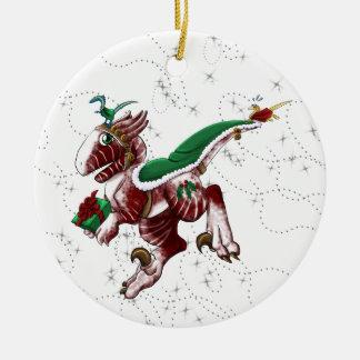 Shivae postal adorno navideño redondo de cerámica