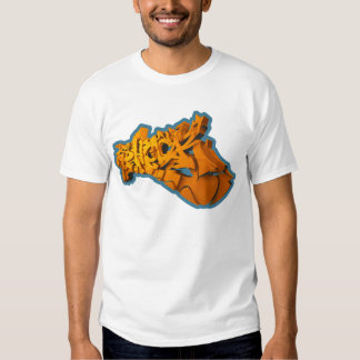 SHOCKEA 3D (3D-Graffiti en playera) Camiseta