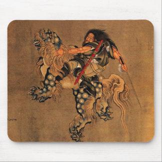 Shoki que monta un león de Shishi Alfombrilla De Ratón