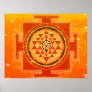 Shree espiritual Yantra Poster