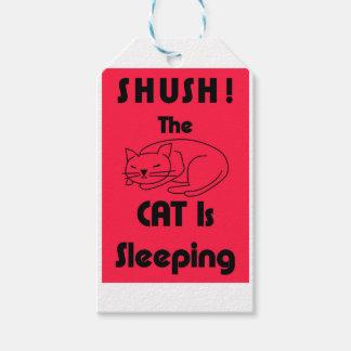 ¡SHUSH! El gato está durmiendo Etiquetas Para Regalos