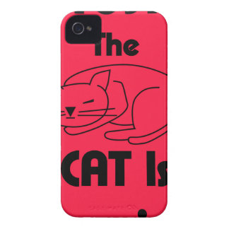 ¡SHUSH! El gato está durmiendo Funda Para iPhone 4 De Case-Mate