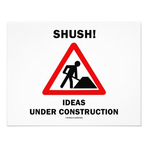 ¡Shush! Ideas bajo construcción Invitacion Personal